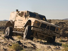 ...this, the more IED-resistant Oshkosh M-ATV