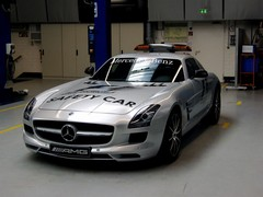 AMG F1 pace car on the eve of the show