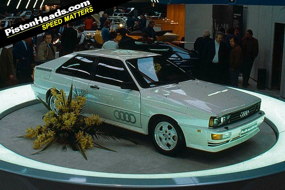 The Geneva motor show in 1980. Nice flowers