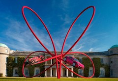 Alfa's Cloverleaf inspired sculpture