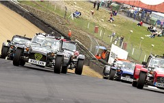 Ross Macindoe leads a post-safety car pack