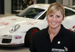 Sabine Schmitz and 911 GT3 'taxi'