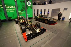 Epic Jim Clark quote on Lotus stand