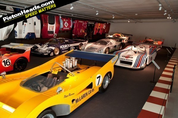 Some racing cars on display...
