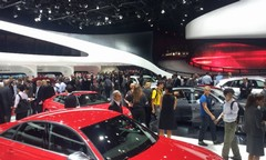 Audi stand cramped, but interesting