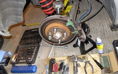 Rear brake pads an easy fix