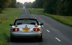 Eunos is great roof-down in the dusk