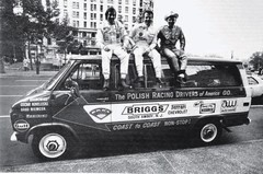 Polish Racing Drivers of America atop van