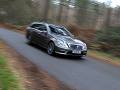 The E63 AMG: too fast for the PH camera