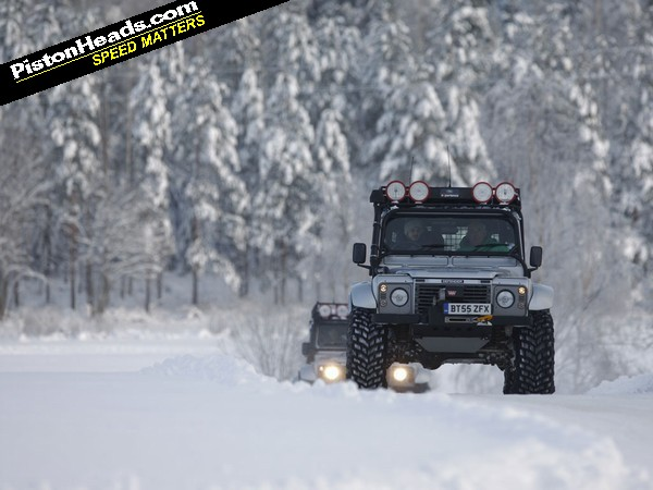 Land Rover Bigfoot Says Snow What Snow Pistonheads