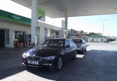 The obligatory petrol station shot