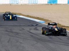 F1 car leads out other Caterham product