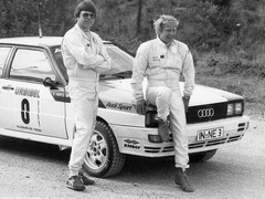 Photo of Arne Hertz and Hannu Mikkola...