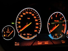 Dials go red at night, like a real M car!