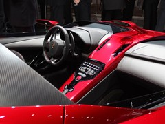 Interior features patented carbon upholstery