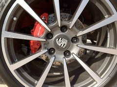 Brakes look puny within 20-inch wheels: aren't