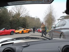 A very Goodwood traffic jam