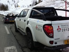 Dan's Mitsubishi L200 helps out on the shoot