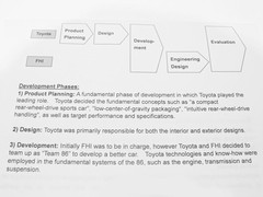 Toyota's explanation of the development