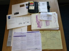 A car's life in paperwork - fascinating reading!