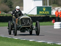 Ken at Goodwood in more pleasant weather