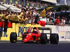 Prost taking the win in 1990 French GP