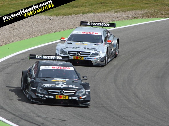 Gary Paffett leads Jamie Green