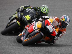 Crutchlow chased Pedrosa and got fourth