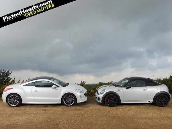 Blood Brothers Mini Coupe Jcw Vs Peugeot Rcz Pistonheads