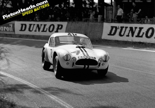 A Cobra hard at work at Le Mans in 1963