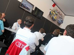 Quattro boss Stephan Reil looks on