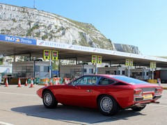Lovely Maserati Khamsin in the ferry queue