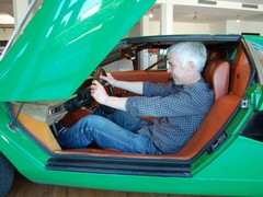 Nick tries the first ever Countach for size