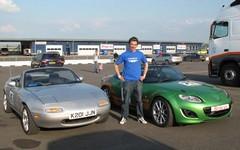 Dan (and Eunos) pose with the Jota race car