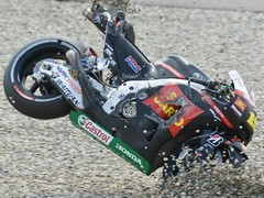 Bautista's crash ended Lorenzo's race also