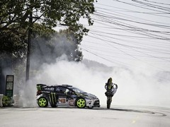Tyre smoke, donuts ... seem familiar?