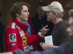 Daniel Bruhl with director Ron Howard