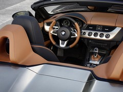 Brown leather theme throughout interior