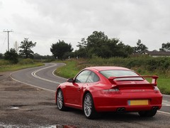 A 997 and a twisty British backroad - perfect!