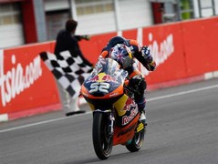 Danny Kent makes it a British win in Moto3
