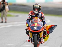 Sandro Cortese took the Moto3 race and title