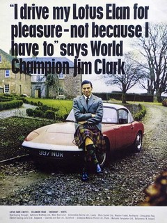 Jim Clark flies the flag for his employer