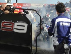 Further celebrations for Lorenzo in the pits