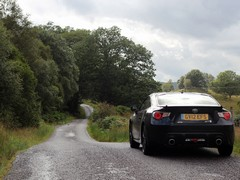 'Rally stage' Glen Orchy road to Tada's tastes