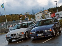 Dale's E36 and friend chill out at the 'ring