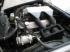 ...housed in a huge air box atop the 5.3-litre V8