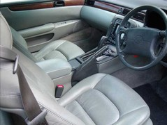 Gizmos, grey leather, plasticky wood - it's Lexus!