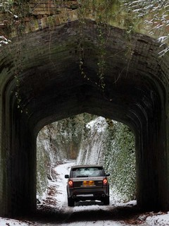 Green laning, with a wintry hue