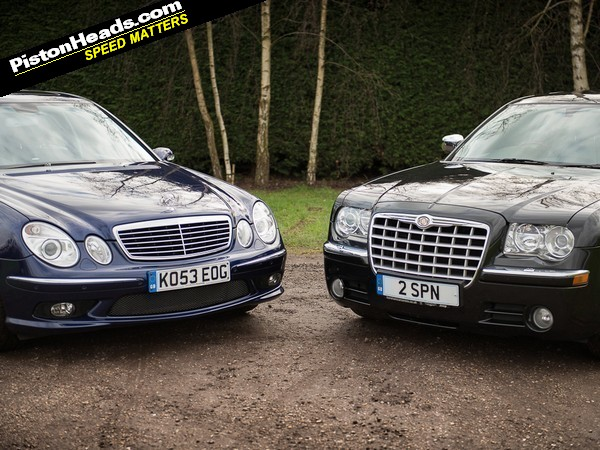 Blood Brothers: Mercedes E55 AMG vs Chrysler 300C   PistonHeads