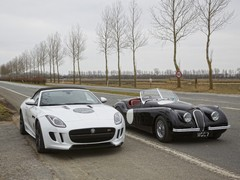 F-Type with XK120, the car that started it all